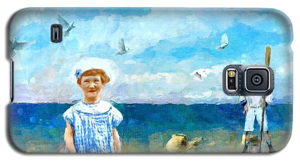 Galaxy S5 Case featuring the digital art Day At The Shore by Alexis Rotella