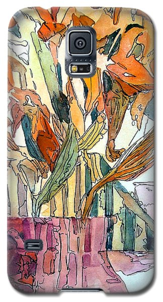 Day Lilies In A Rose Vase Galaxy S5 Case