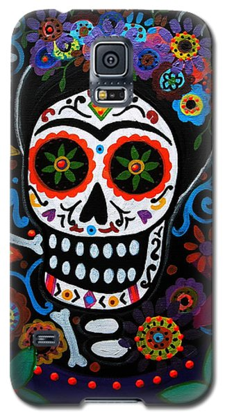 Day Of The Dead Frida Kahlo Painting Galaxy S5 Case by Pristine Cartera Turkus