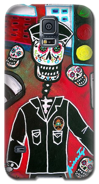 Day Of The Dead Policeman Galaxy S5 Case by Pristine Cartera Turkus