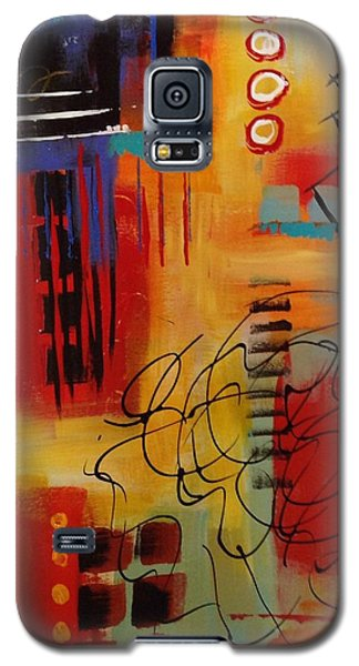 Galaxy S5 Case featuring the painting Day Two...30 In 30 Challenge by Suzzanna Frank
