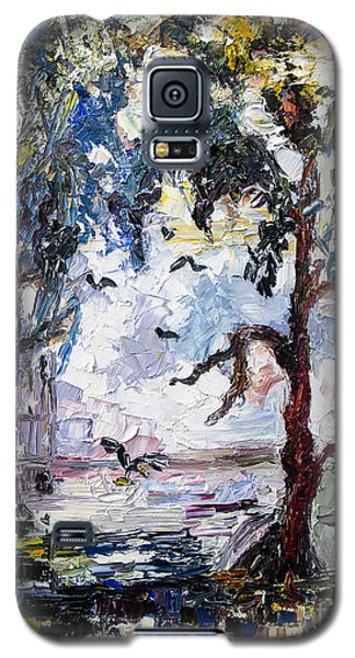 Galaxy S5 Case featuring the painting Daybreak In The Okefenokee by Ginette Callaway