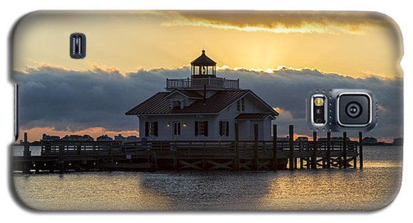 Daybreak Over Roanoke Marshes Lighthouse Galaxy S5 Case