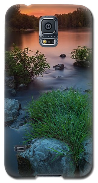 Daybreak Over The Old Riverbed Galaxy S5 Case