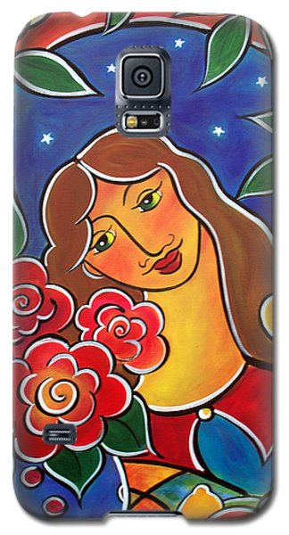 Galaxy S5 Case featuring the painting Daydreaming by Jan Oliver-Schultz