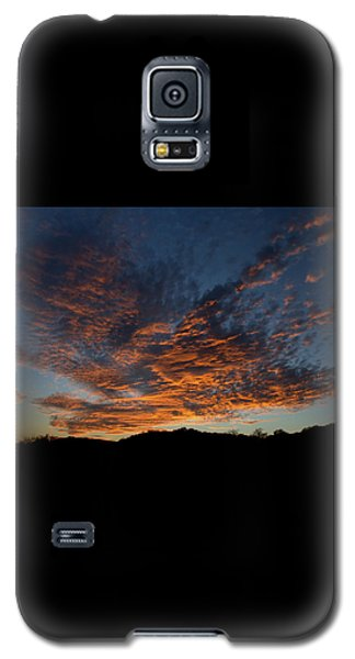 Galaxy S5 Case featuring the pyrography Day's Glorious Ending by Karen Musick