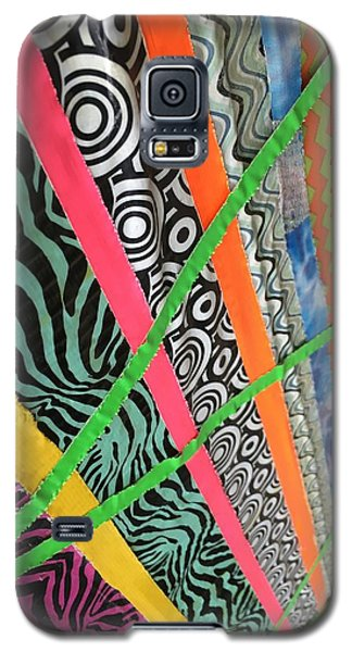 Galaxy S5 Case featuring the photograph Dazzling Delirious Duct Tape Diagonals by Douglas Fromm