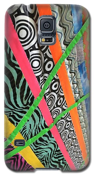 Dazzling Delirious Duct Tape Diagonals Galaxy S5 Case by Douglas Fromm