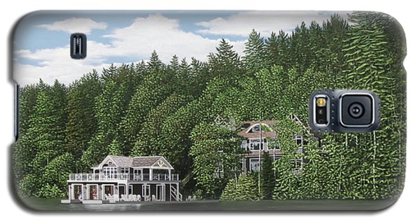 Galaxy S5 Case featuring the painting De Groote Summer Home Muskoka by Kenneth M Kirsch