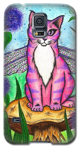 Dea Dragonfly Fairy Cat Galaxy S5 Case by Carrie Hawks