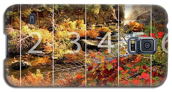 Dead River Falls Marquette Michigan Panoramic Map Galaxy S5 Case