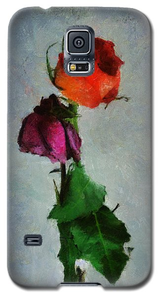 Galaxy S5 Case featuring the digital art Dead Roses by Francesa Miller
