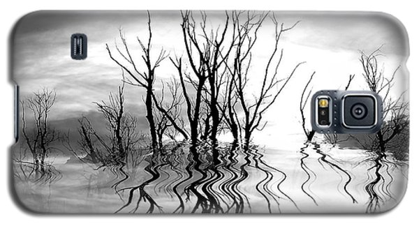 Galaxy S5 Case featuring the photograph Dead Trees Bw by Susan Kinney