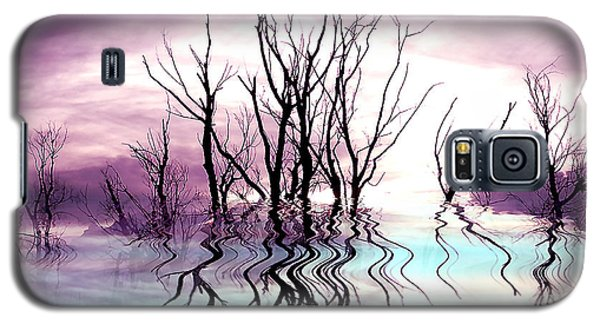 Galaxy S5 Case featuring the photograph Dead Trees Colored Version by Susan Kinney