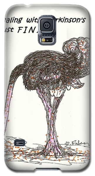 Galaxy S5 Case featuring the drawing Dealing Just Fine by Denise Fulmer