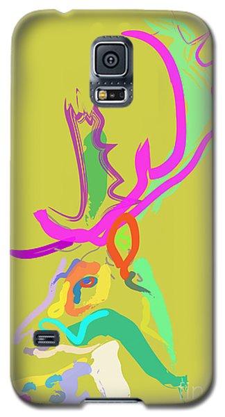 Galaxy S5 Case featuring the painting Dear Deer by Go Van Kampen