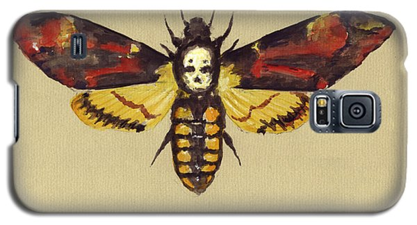 Hawk Galaxy S5 Case - Death Head Hawk Moth by Juan Bosco