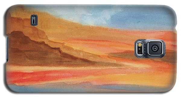Galaxy S5 Case featuring the painting Death Valley by Ellen Levinson