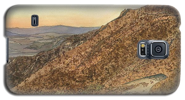 Galaxy S5 Case featuring the painting Death Valley From Dante's View  A November Sunset by Joel Deutsch