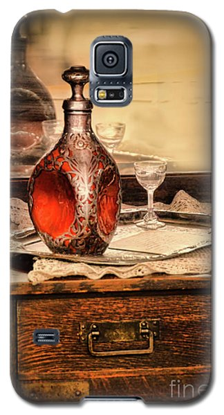 Galaxy S5 Case featuring the photograph Decanter And Glass by Jill Battaglia