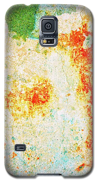 Galaxy S5 Case featuring the photograph Decayed Wall With Orange Paint by Silvia Ganora