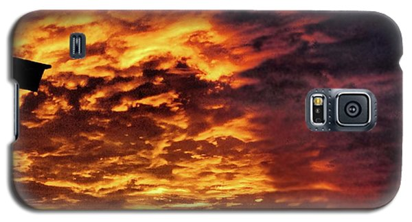 Galaxy S5 Case featuring the painting December Austin Sunset  by Layne William LoMaglio