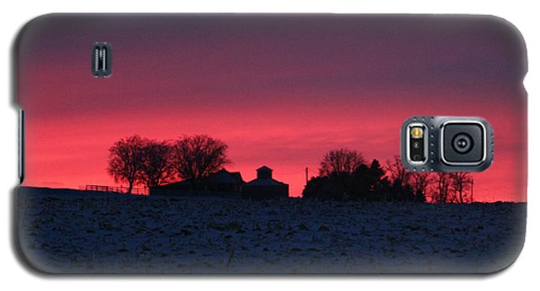 December Farm Sunset Galaxy S5 Case by Kathy M Krause
