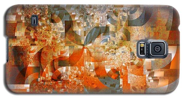 Galaxy S5 Case featuring the digital art Deco Bubbles by Richard Ortolano