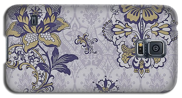 Deco Flower Blue Galaxy S5 Case