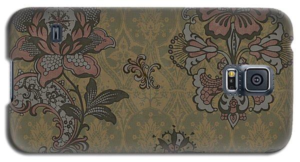 Deco Flower Brown Galaxy S5 Case