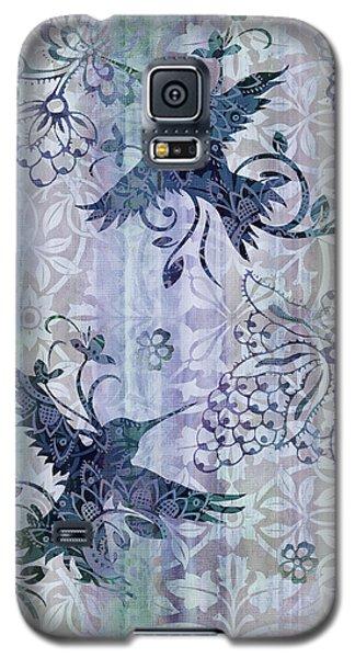 Deco Hummingbird Blue Galaxy S5 Case