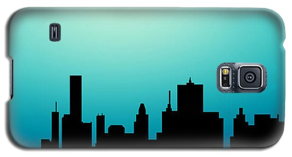 Decorative Abstract Skyline Houston R1115a Galaxy S5 Case