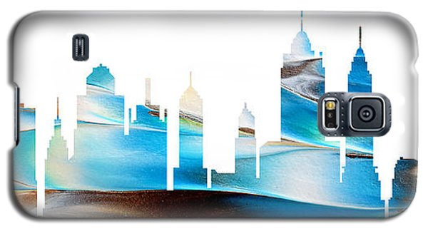 Decorative Skyline Abstract New York P1015a Galaxy S5 Case