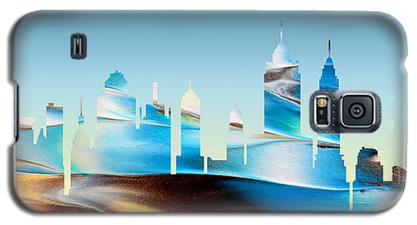 Decorative Skyline Abstract New York P1015b Galaxy S5 Case