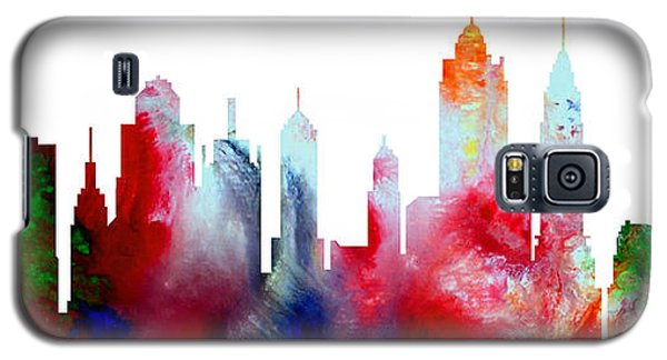 Decorative Skyline Abstract New York P1015c Galaxy S5 Case