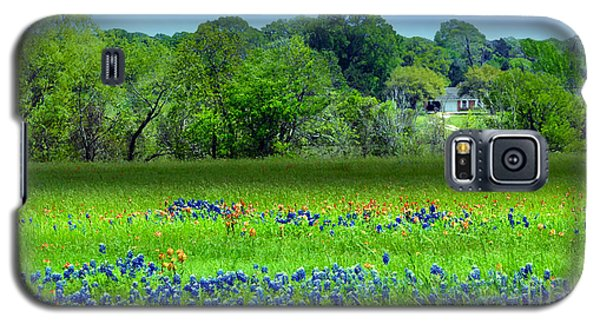 Decorative Texas Homestead Bluebonnets Meadow Mixed Media Photo H32517 Galaxy S5 Case