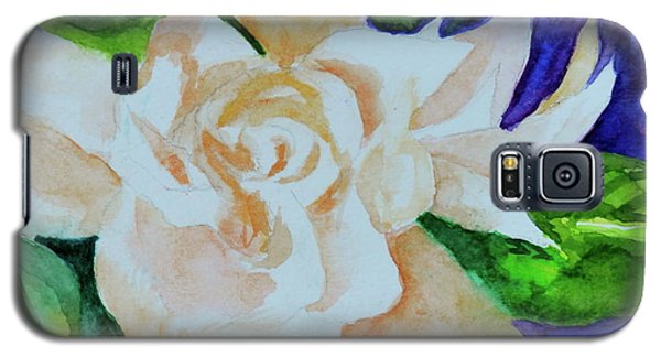 Galaxy S5 Case featuring the painting Deep Gardenia by Beverley Harper Tinsley