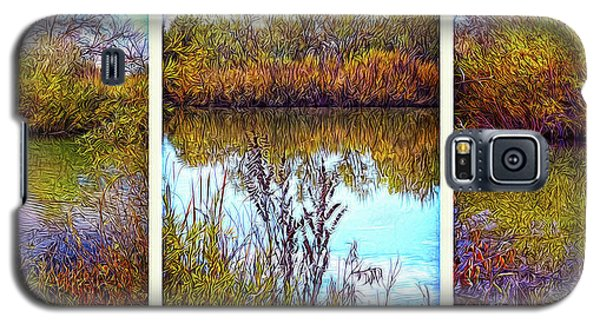 Deep Lake Reflections - Triptych Galaxy S5 Case