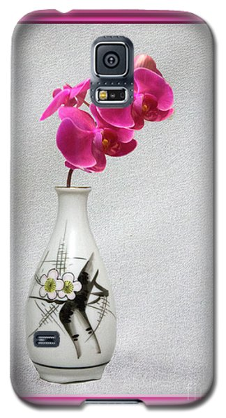Galaxy S5 Case featuring the photograph Deep Pink  Orchids by Linda Phelps