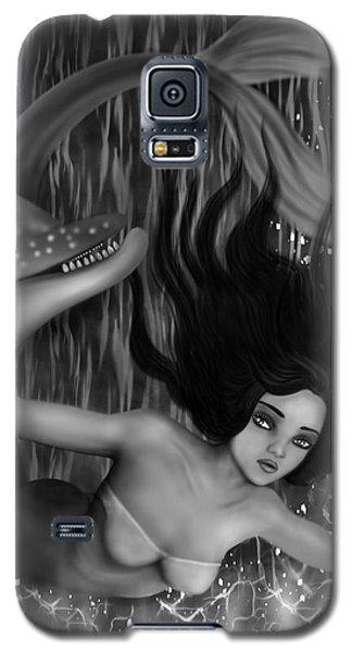 Deep Sea Mermaid - Black And White Fantasy Art Galaxy S5 Case