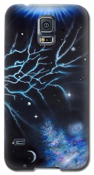 Galaxy S5 Case featuring the painting Deep Space by Mary Scott