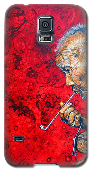 Galaxy S5 Case featuring the painting Deep Thoughts by Tom Roderick