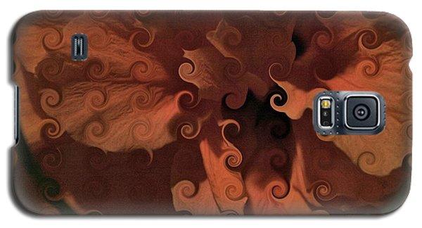 Deep Wine Curlicue Hibiscus Galaxy S5 Case