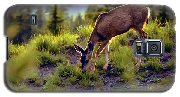 Deer At Crater Lake, Oregon Galaxy S5 Case by John A Rodriguez