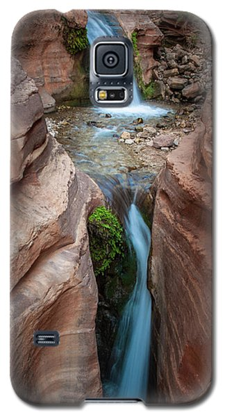 Deer Creek Double Waterfall Galaxy S5 Case by Britt Runyon