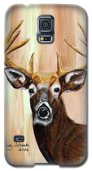 Galaxy S5 Case featuring the painting Deer Head by Judy Filarecki