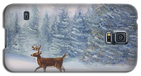 Deer In The Snow Galaxy S5 Case by Denise Fulmer