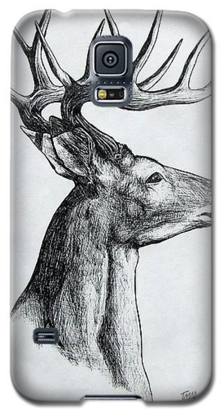 Galaxy S5 Case featuring the drawing Deer by Michael  TMAD Finney