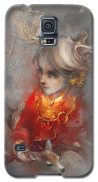 Galaxy S5 Case featuring the digital art Deer Princess by Te Hu
