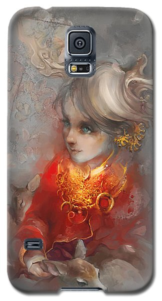 Deer Princess Galaxy S5 Case by Te Hu